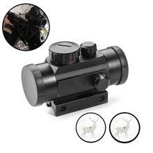 Caça tática ponto vermelho 1x40rd visão óptica 11mm 20mm montagens riflescope alvo ponto rifle escopo e telescópio chasse