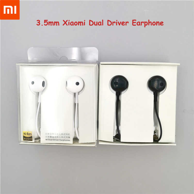 Original Xiaomi Hybrid Dual Driver 3.5mm Universal In-Ear Earphone Wire Control with Mic for MI A3 A2 Redmi K20 Pro 6A 7A Note 7