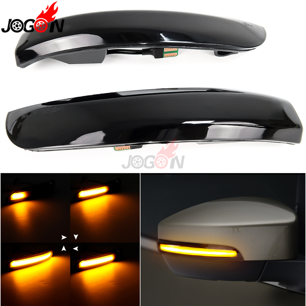 For Ford Kuga Escape C520 EcoSport 2013-2018 Dynamic Turn Signal Light LED Side Wing Rearview Mirror Sequential Indicator Lamp