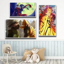 Nordic Posters Naruto Wall-Pictures Room-Decor Scandinavian Printed Baby-Girl Boy HD