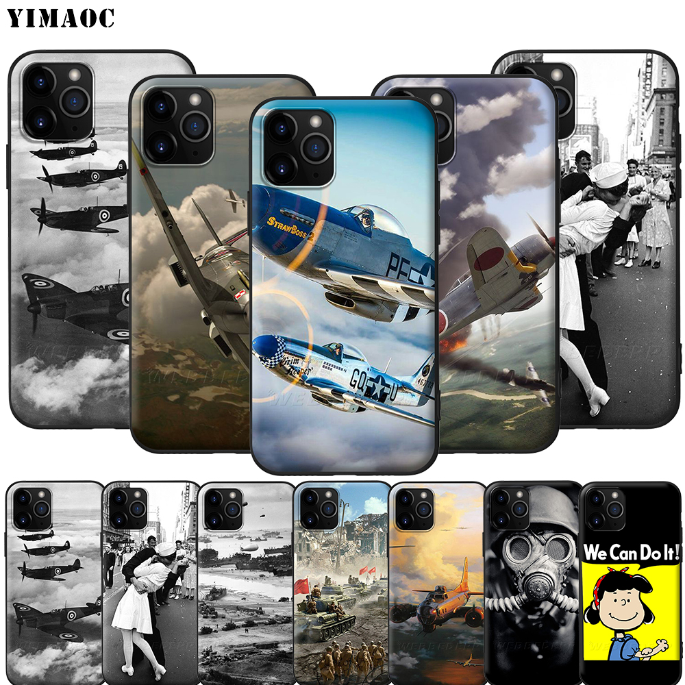 YIMAOC World war II WWII Silicone Soft Case for iPhone 12 Mini 11 Pro XS Max XR X 8 7 6 6S Plus 5 5S SE