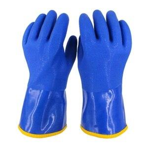 Image 2 -  20 Graden Mannen Werk Thermische Handschoenen Winter Bescherming Pvc Waterdichte Antislip Oilproof Slijtvaste Koude Opslag vissers