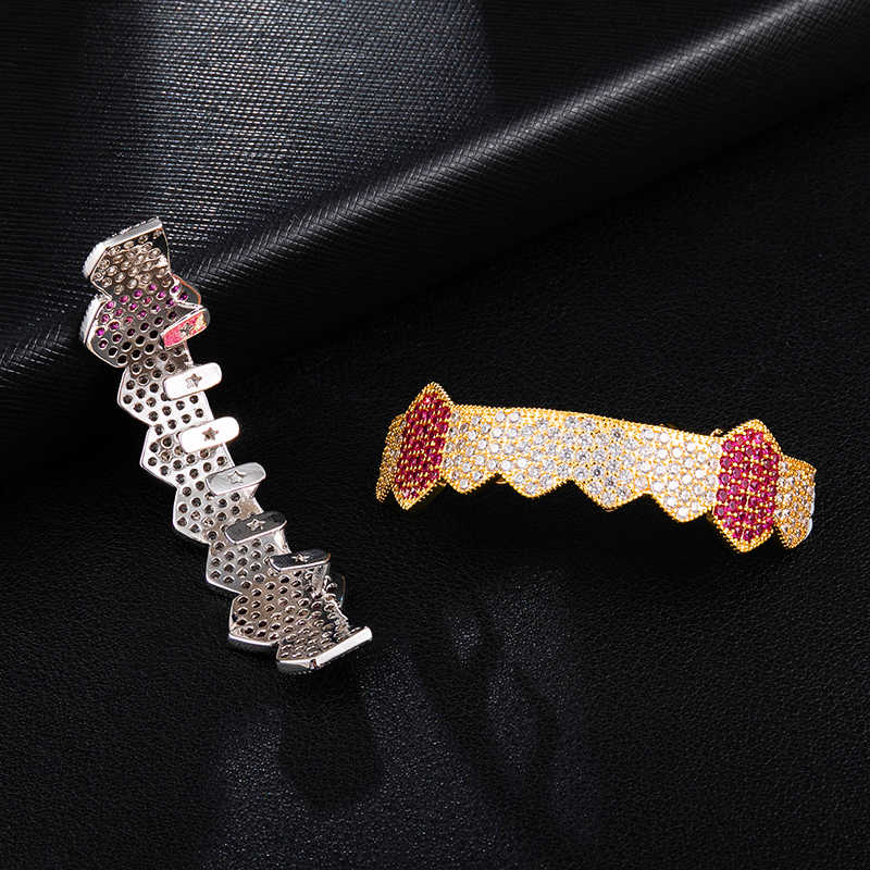 Iced Out Micro Pave Full Cz Teeth Grillz Bottom Charm Grills For