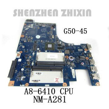 For Lenovo G50-45 Laptop Motherboard A8-6410 CPU ACLU5/ACLU6 NM-A281 5B20G38065 Mainboard 1