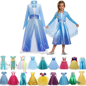 Princess Elsa Dress Girls Halloween Children's Party Cosplay Clothing Kids Anna Dress up Girls Elsa Costume Size 4-10 Years(China)
