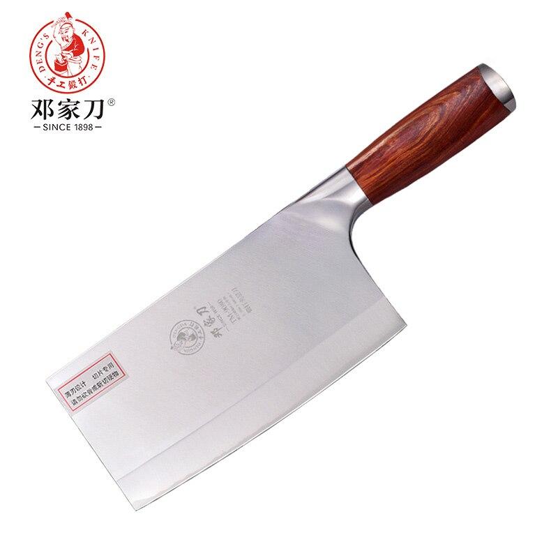 Нож из нержавеющей стали 9Cr18Mov с ручкой из красного дерева китайский Высококачественный нож шеф-повара ручной работы кухонные ножи из нержа...