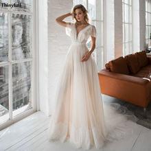Кружевное свадебное платье в стиле бохо thinyfull цвета шампанского