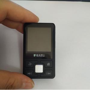 Image 5 - أحدث مشغل Ruizu X55 رياضي مزود بالبلوتوث ومشغل MP3 مشبك صغير محمول سعة 8 جيجابايت مشغل موسيقى MP3 يدعم FM وتسجيل وكتاب إلكتروني وساعة وعداد خطي