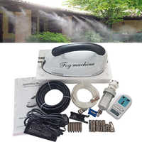 High Pressure 0.2L/Min Fog Machine with 6pcs Misting Nozzles with Water Timer Mister Set Dry Fog Misting System for Patioa Cool