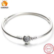 Luxury Original 100% Real 925 Sterling Silver Bracelet Bangle Wedding Jewelry Snake Bone Fit DIY Charm Bead for Women Gifts ZY10 authentic 925 sterling silver bead charm snake chain fit original pans bracelet with glue heart clasp for women diy jewelry