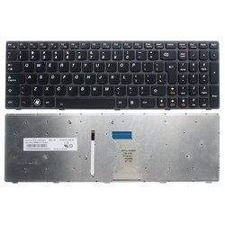 Akcesoria do laptopa interfejs użytkownika nowy klawiatura do lenovo Ideapad Y580 Y580N Y580A Y590 Y590N klawiatura z podświetleniem w Zamienne klawiatury od Komputer i biuro na