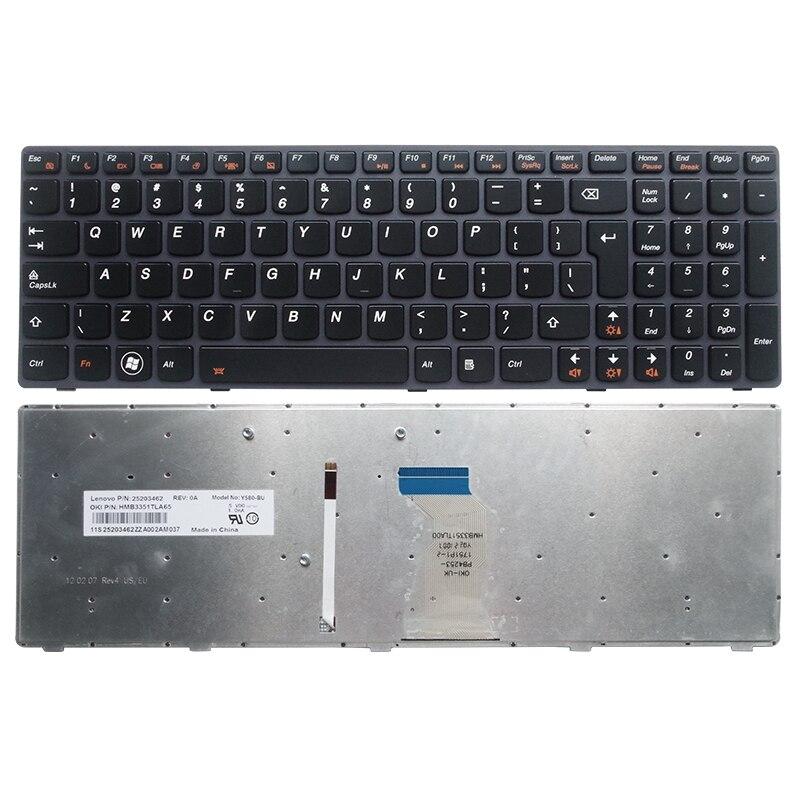 Аксессуары для ноутбука UI новая клавиатура для Lenovo Ideapad Y580 Y580N Y580A Y590 Y590N клавиатура с подсветкой