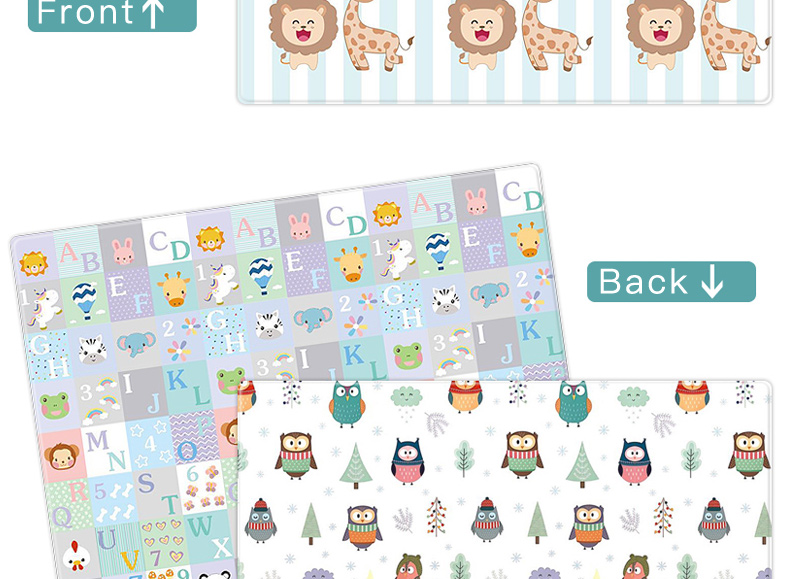 Ha17c48765c554f0180d1a410ba54e818V Miamumi Portable Baby Play Mat XPE Foam Double Sided Playmat Home Game Puzzle Blanket Folding Mat for Infants Kids' Carpet Rug