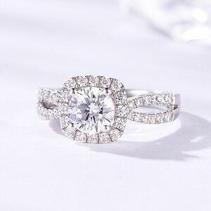 Image 3 - Kuololit 100% Handgemaakte Ring 10K Wit Goud Moissanite Ringen Voor Vrouwen Lab Groei Diamanten Bruiloft Bruid Partij Ringen Fijne sieraden