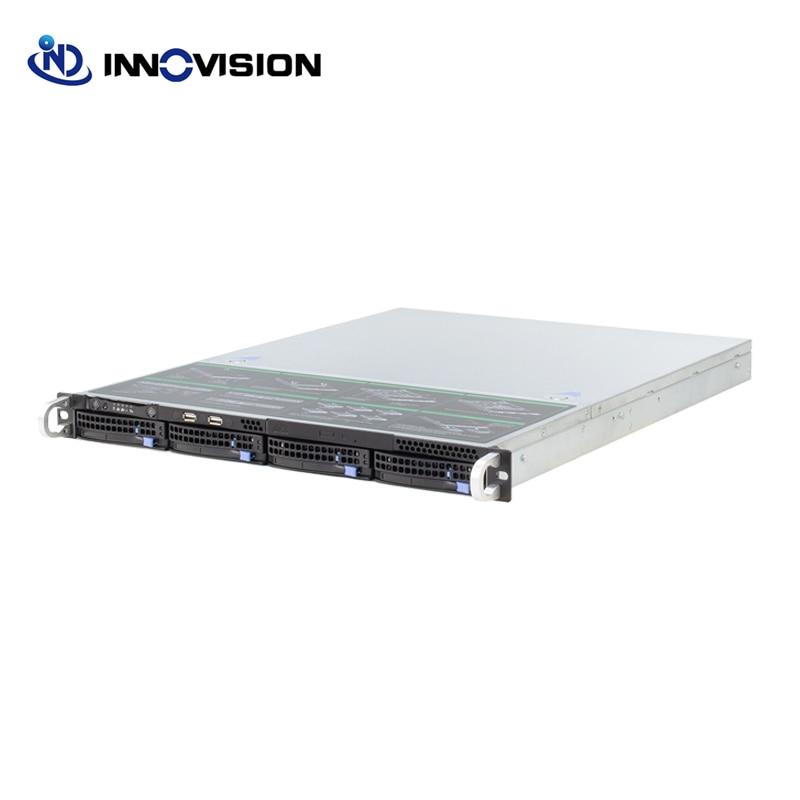 Super Huge Storage 4 Bays 1u Hot Swap Rack NVR NAS Server Chassis Customzied Server Barebone X16504