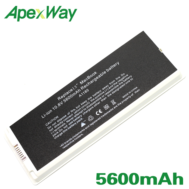 "ApexWay A1185 laptop Battery for Apple MacBook 13"" A1181 (2006-2009 year )MA701 MB061 MB062 MB063 MB402 MB403 MB404 MB881 MC374"