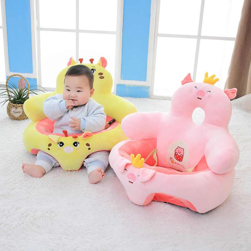 Новое популярное детское кресло для малышей, мягкое кресло для сидения, подушка для дивана, плюшевая игрушка-подушка, животное, свинья, пингвин, единорог, олень