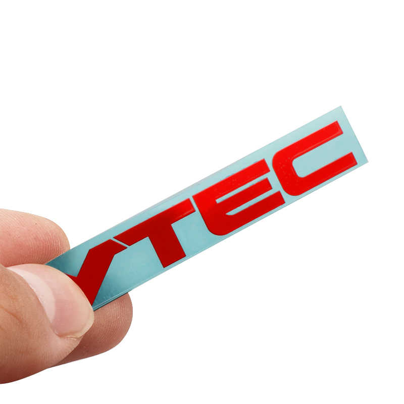 Coche 3D níquel metal VTEC insignia emblema coche decoración pegatina Auto para Honda Civic Odyssey V6 V8 AWD Accesorios