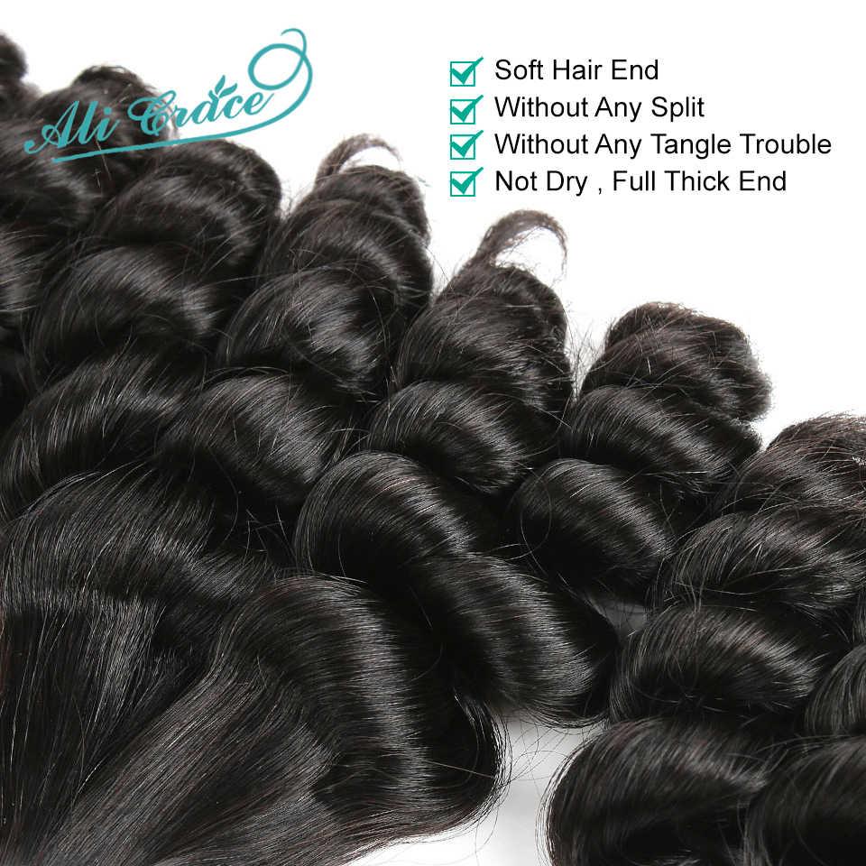 Ali Gnade Haar Brasilianische Funmi Haar Doppel Gezogen Frisur Funmi Haar Bundles Tante Maschine Doppel Tressen Haar Extensions