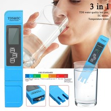 3 IN 1 Digital LCD TDS EC TEMP PPM Meter Tester Filter Pen Water Quality Purity Digital TDS Meter Tester For Water Quality Test