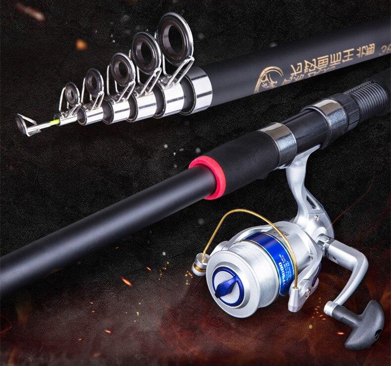 fiação vara de pesca m potência telescópica