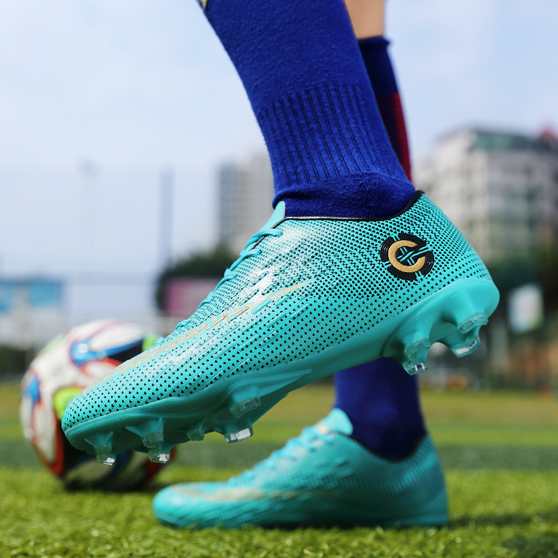 Soccer Shoes Men Football Cleats  Soccer Boots Teenager Ankle High Tops Football Shoes Kids Indoor Soccer Training Sneaker