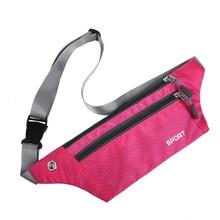 Waterproof Zipper Women Men Sport Waist Fanny Pack Crossbody Shoulder Belt Bag Travel Phone Hip Bag Casual Bum Belly Bag Purse