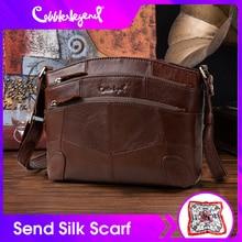 Cobbler Legend Multi Taschen Vintage Echtem Leder Tasche Weibliche Kleine Frauen Handtaschen Taschen Für Frauen 2019 Schulter Crossbody tasche