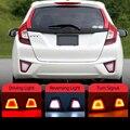 1 пара для Honda Jazz FIT 2014 2015 2016 2017 мульти-функции Автомобильный светодиодный задний противотуманный фонарь стоп-сигнал светильник сигнала пово...