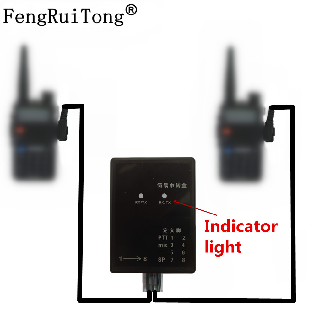 design Repeater box for Two way Radio BAOFENG/TYT/WOUXUN/KIRISUN/HYT Relay Box/DIY Repeater for Walkie talkie ?TX and Rx indicat