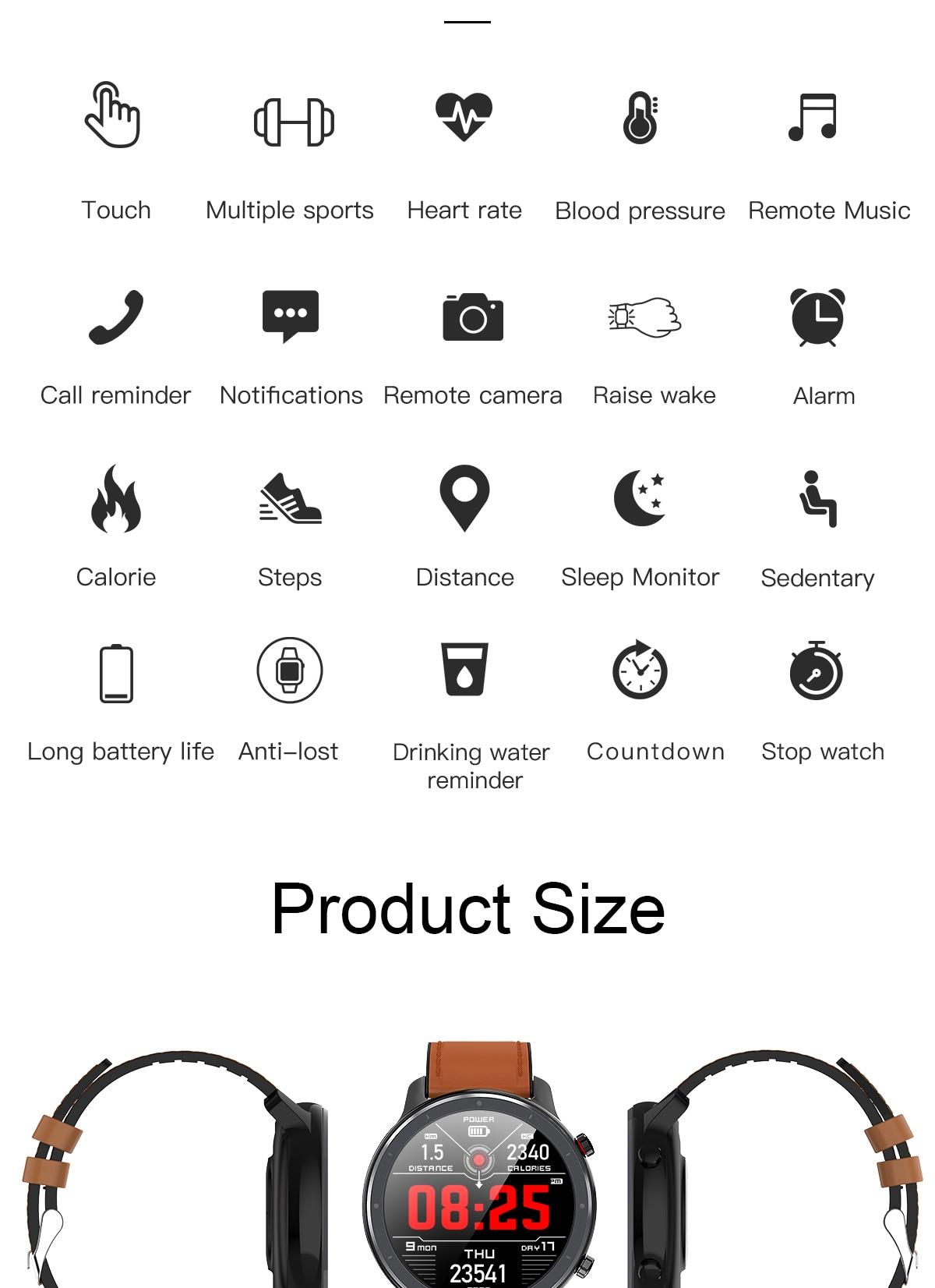 Ha17d692548b64249a842996d61afe17aF LEMFO 2020 Smart Watch Men Full Touch Screen  IP68