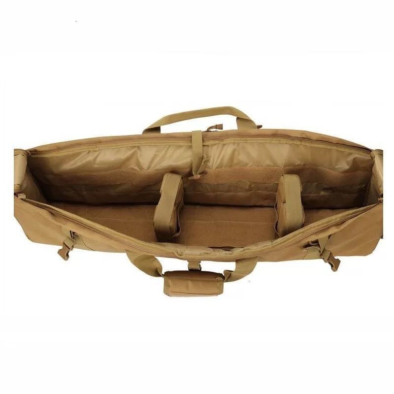 Brown Tactical Bag Double Package Capacity Open Top View