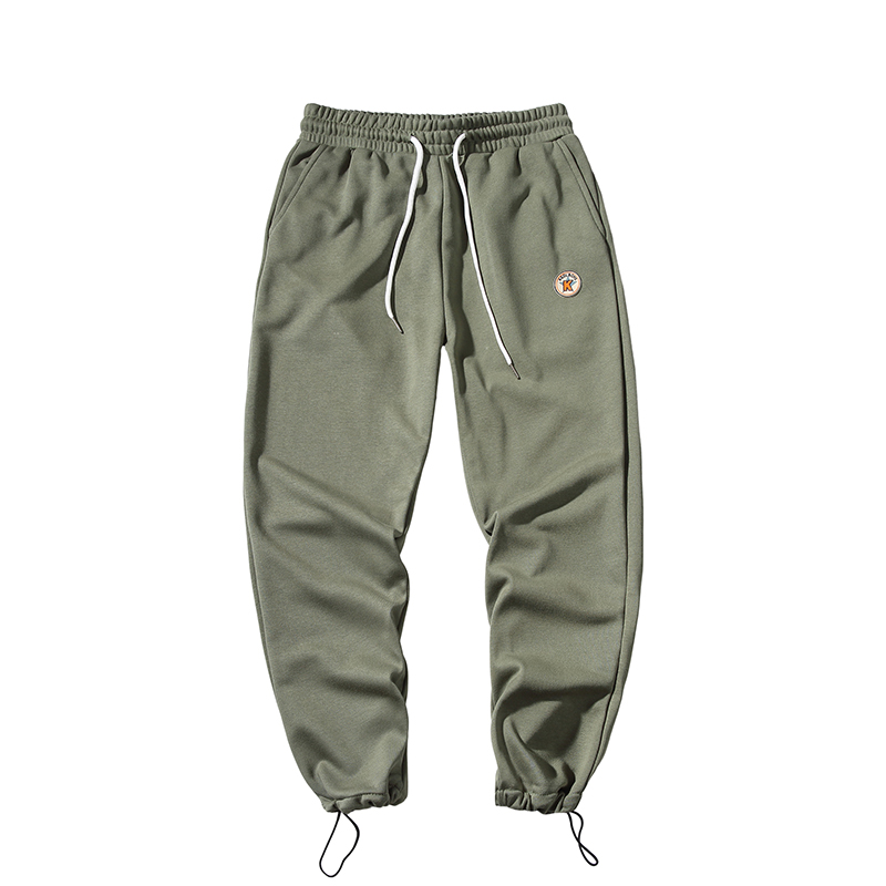 Men New Fashion Straight Pants Stretch Cotton Sports Casual Pants Nine Pants Hip Hop Style Trousers Plus Size Loose Pants