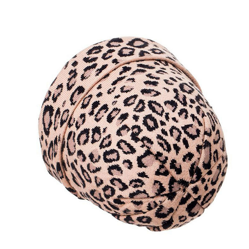 Women 39 s Leopard Beanie Hat with Fox Fur Pompom Winter Warm Leopard Slouchy Beanies with Real Fur Pompon Femme Skullies in Women 39 s Skullies amp Beanies from Apparel Accessories