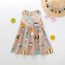 2020 Новое поступление; Платье для девочек; Платья без рукавов