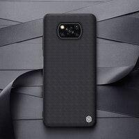 NILLKIN-funda con textura de fibra de nailon para Xiaomi Poco X3 NFC, carcasa trasera de Panel de PC, suave, TPU,para Xiaomi Poco X3 Pro Case