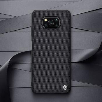 For Xiaomi Poco X3 NFC Case NILLKIN Textured Nylon Fiber Soft TPU Hard PC Panel Back Cover For Xiaomi Poco X3 NFC Case