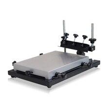 NEW Manual Solder Paste Printer,PCB SMT Stencil Printer M Size 440x320mm Screen Printing Table Manual SMT Solder Paste Print zb3244h manual micro adjustment silkscreen machine simple solder paste printing machine