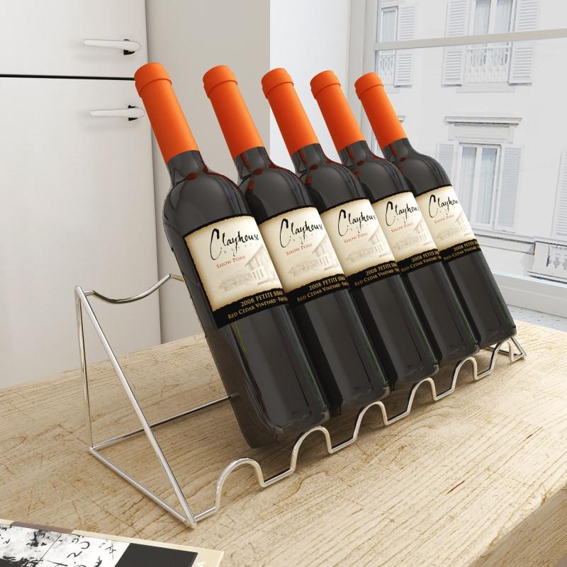 Wine Rack Oblique Wine Display Wine Holder Wine Cabinet Bar Counter Wine Bottle Decor Iron Shelf Living Room Home