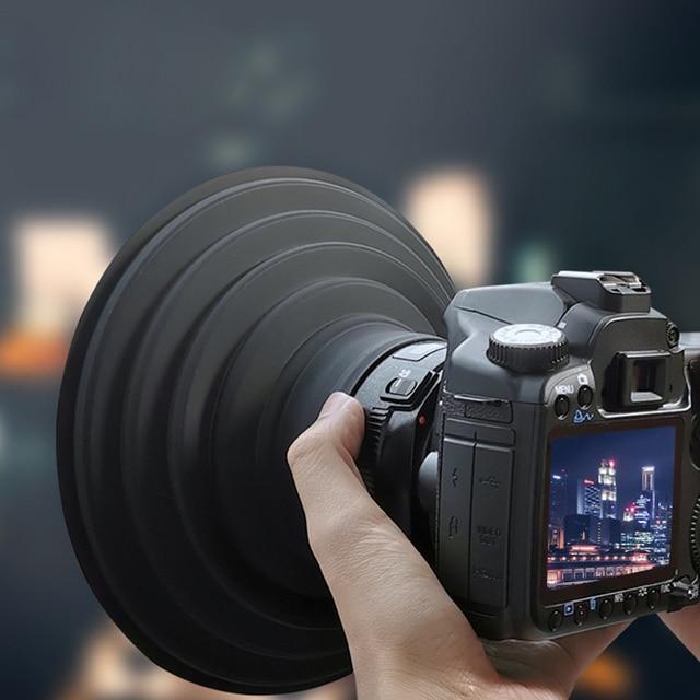 Đa Năng Fodable Silicone Cực Lens Hood Bao Da Bảo Vệ Chống Kính Phản Xạ Cho Canon Nikon Sony Fuji Camera Chụp Ảnh Video