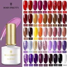 BORN PRETTY rojo púrpura café serie esmalte de uñas 6ml Color de uñas Gel UV Soak Off barniz arte de esmalte de uñas polaco