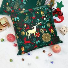 QIFU Merry Christmas Pillow Case Decorations For Home Sofa Ornament Decor Noel New Year Gifts 2020 Navidad