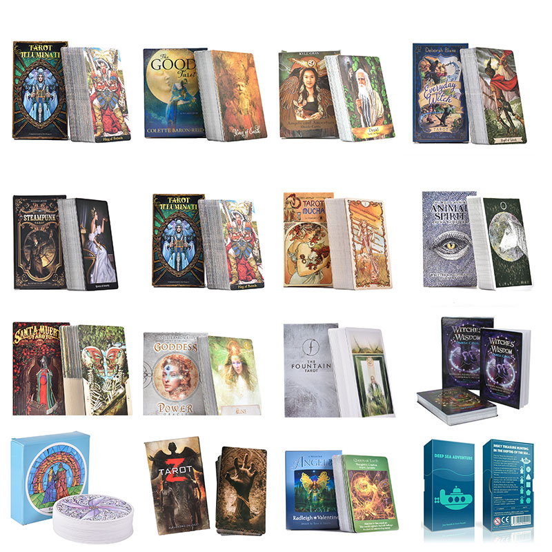 2019 Full Russian Radiant Rider Wait Tarot Cards Board Game High Quality With Colorful Box Divination Fate Tapo Cards Board Game