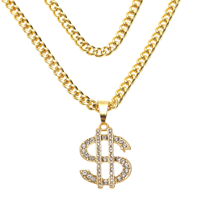 US Dollar Money Sign Pendant Necklaces 10
