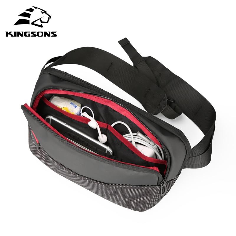 Kingsons Chest Bag Waist Pack For Men Small Single Shoulder Back Pack Style Bum Bag Women Money Belt Travelling Mobile Phone Bag