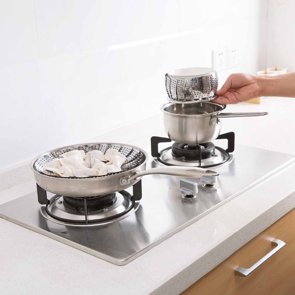 Stainless Steel Folding Steamer Shelf Pot Steaming Tray Stand Cookware Food Steamer Rack Instant Pot Kitchen Tools