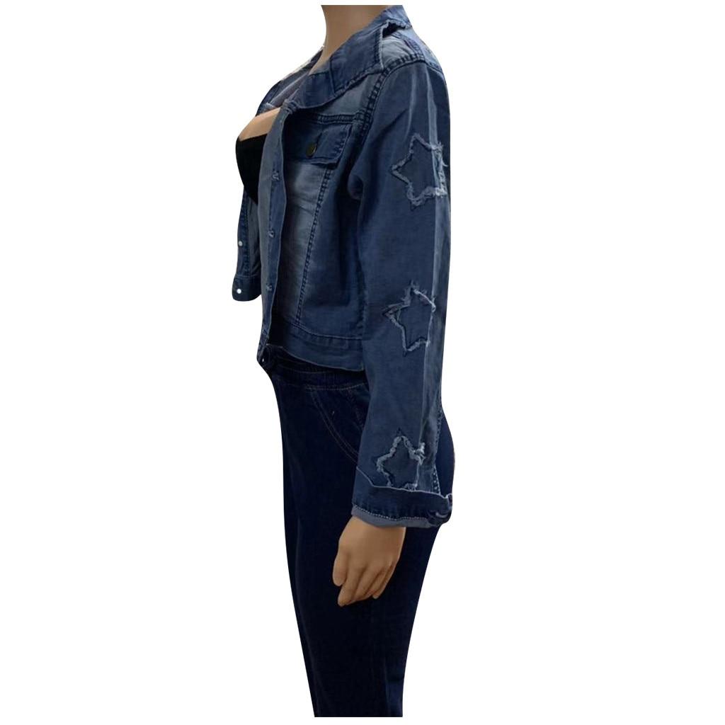Ha17f65eae15f4cbaa91a7102b81e6838Y 2019 Autumn And Winter Women Denim Jacket Vintage Cropped Short Denim Coat Long-sleeve Slim Jeans Coat For Women#J30