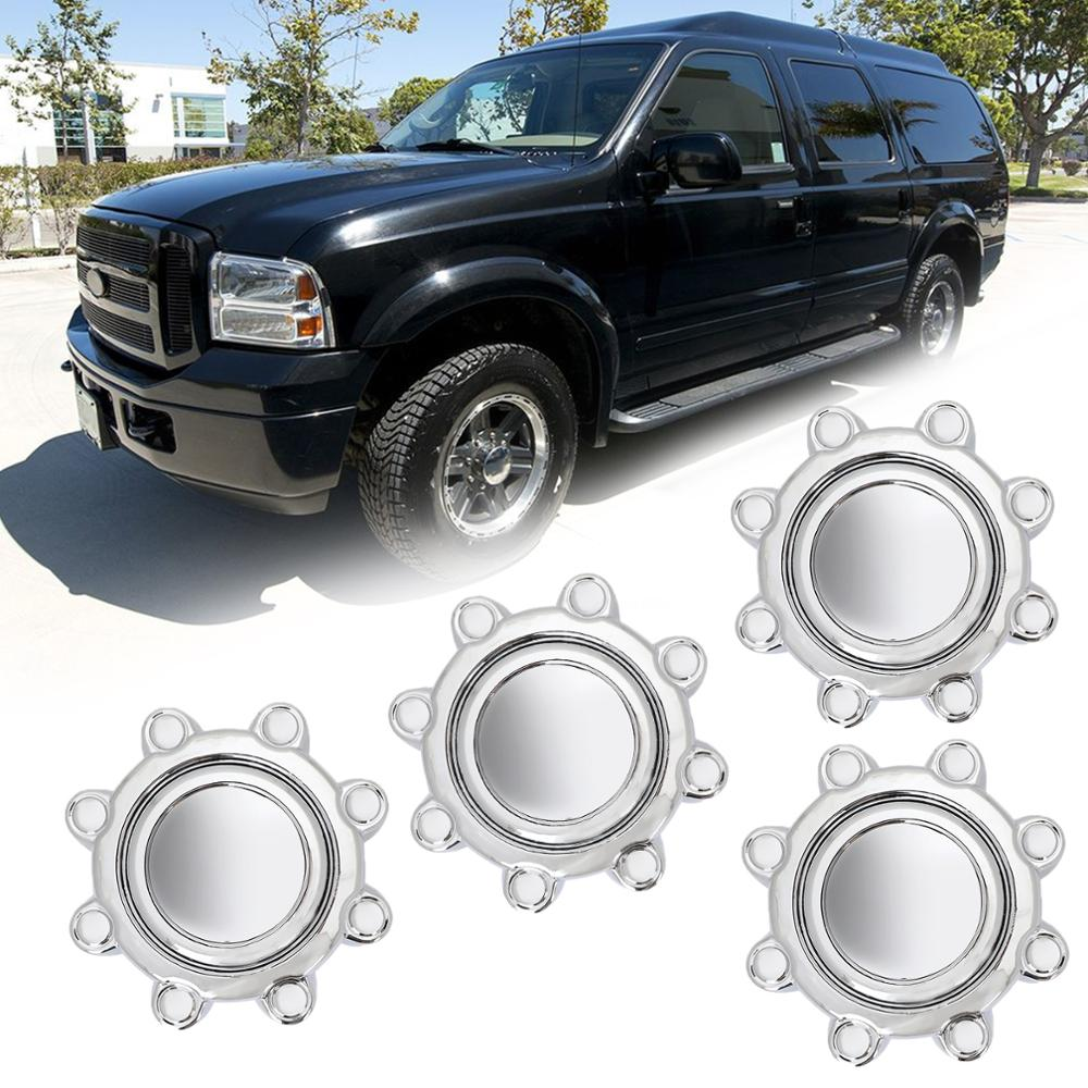 Areyourshop 4Pcs 8 Lug <font><b>Wheel</b></font> <font><b>Center</b></font> Hub Caps Rim Dust <font><b>Covers</b></font> For Ford F250 F350 Excursion Front <font><b>Wheel</b></font> <font><b>Center</b></font> Cap <font><b>Car</b></font> Accessories image