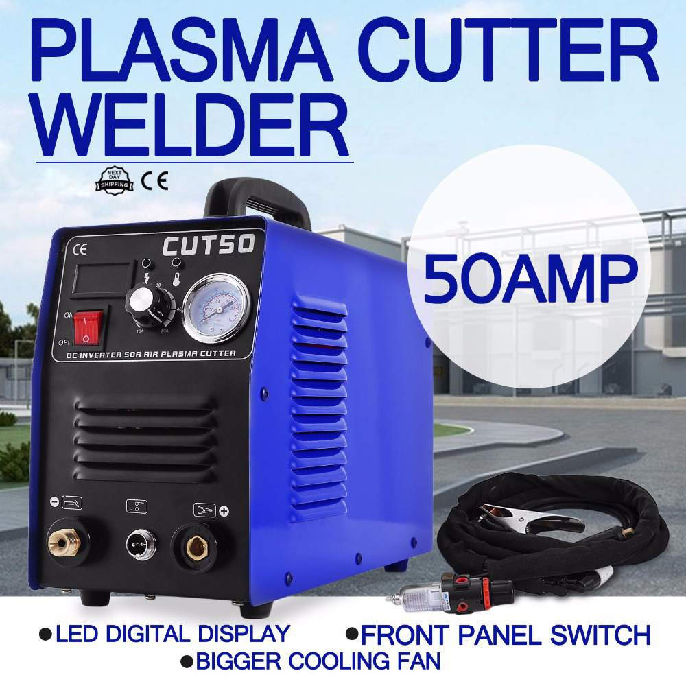 Plasma Cutter CUT50 220V 50A Plasma Cutter Plasma Cutting Machine With PT31 Cutting Torch Welding Accessories