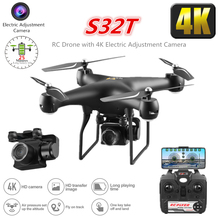 S32T RC Drone with Electric Adjustment 4K WiFi FPV Camera RC Helicopter 25 Mins Flying Time Quadcopter Toy for Kid Dron VS SG901 d66 20mins flight time wifi fpv rc drone with 0 3mp camera 2 4g 6 axis radio controlled helicopter dron quadcopter toy vs x5sw